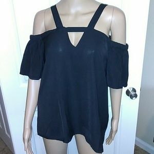 NWOT. Sexy Black off the shoulder top